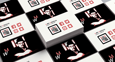 Business card design for the musician and composer Marc Wencelius