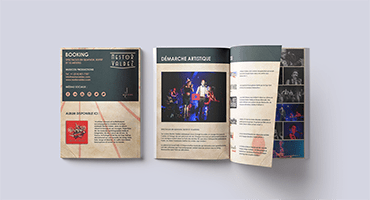 Mockup of the press kit designed by Musicos Productions for Nestor Valdez